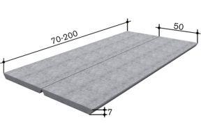 Betonplatte Typ 7/50